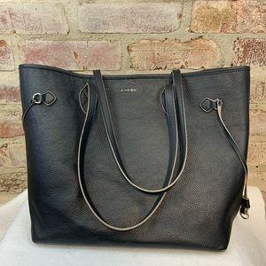 Lodis large black leather handbag purse
